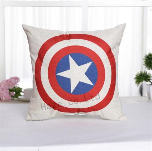 Decorative Throw Pillow Case America Marvel Super-héros Comic Housse de coussin AAA