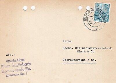 Postkarte 1957 Wäsche-haus Alwin Schönbach HeißEr Verkauf 50-70% Rabatt Bischofswerda