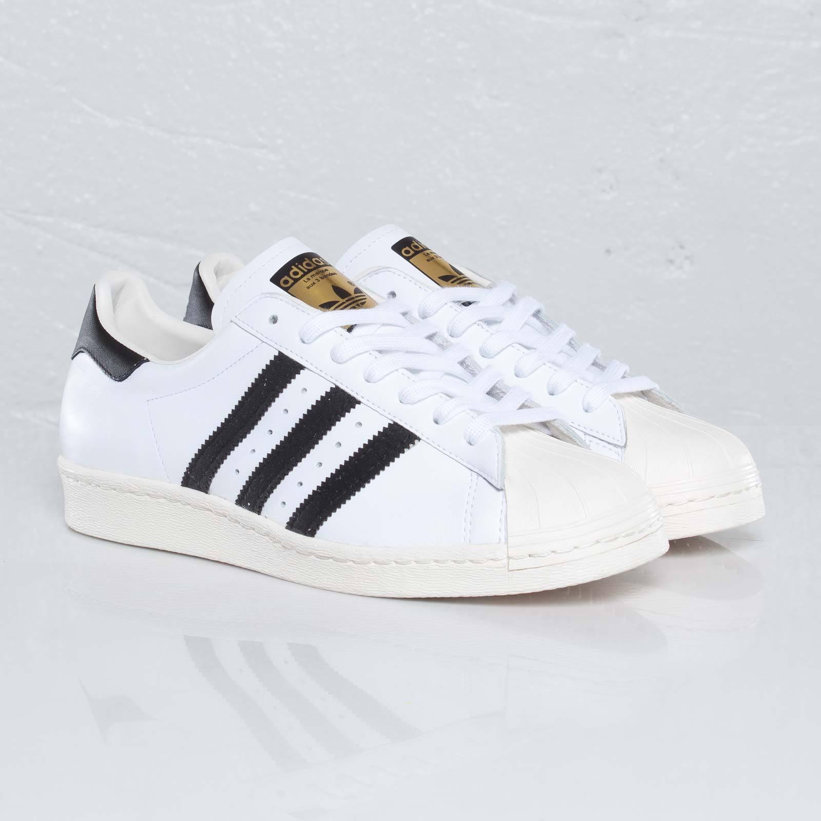 Adidas Superstar 80s G61070 White/Nero Uomo Sizes NEW   Authentic