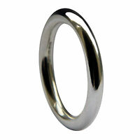 Sale 3mm 950 Platinum Halo Profile Wedding Rings 10.8g Uk Hm Band Uk W. 11 1/8