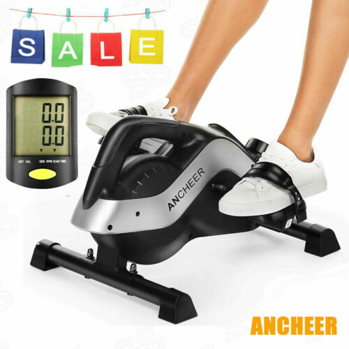 Under Desk Cycle Pedal Exerciser Bike+LCD Display for Leg//Arm Exercise at Office