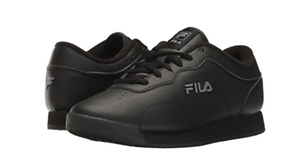 13153344848fd6 NEW WOMEN FILA MEMORY VIABLE SLIP RESISTANT BLACK SHOES AUTHENTIC ...
