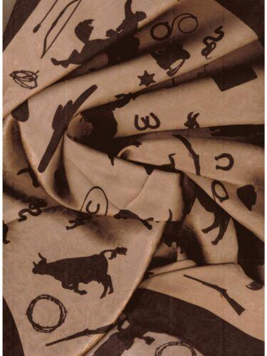 Cowboy Silhouette//Sandstone// Western  Wild Rag Buckaroo Bandana Scarf
