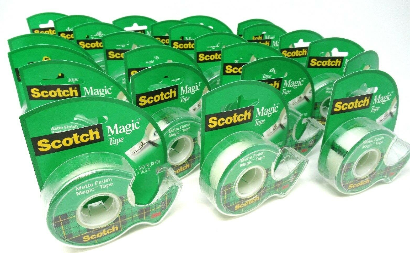 Scotch Magic Tape Refillable Dispenser Writeable 3 4  x 650  Each  24 Count