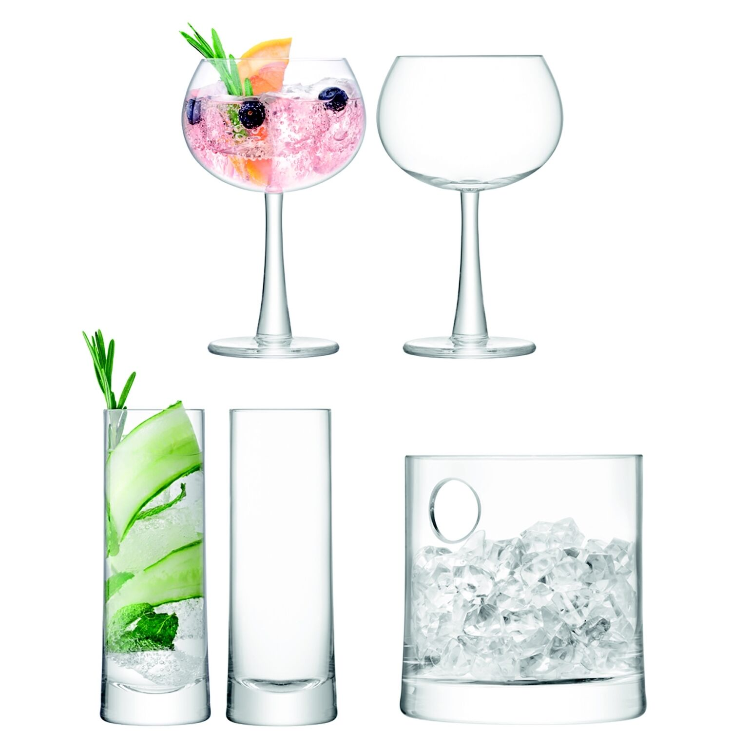 LSA INTERNATIONAL Gin Ice Set Clair