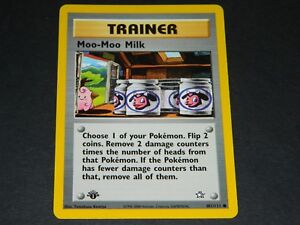 Losse kaarten Moo Moo Milk 101/111 Neo Genesis 1st Edition PSA 10 Gem Mint Rare Pokemon Card