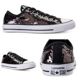 Converse-Sneakers-All-Star-Ox-Lo-Top-Chuck-Taylor-Men-11-Women-13-Sequins-Prom