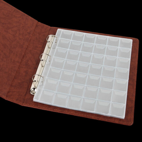 5 Pages 42 Pockets Classic Coin Holders Sheets for Storage Collection AlbumFBDU