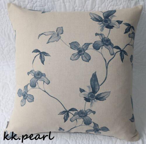 """John Lewis Housse De Coussin Moderne et Style Contemporain Bleu Marine Floral Tissu 18/"""""""