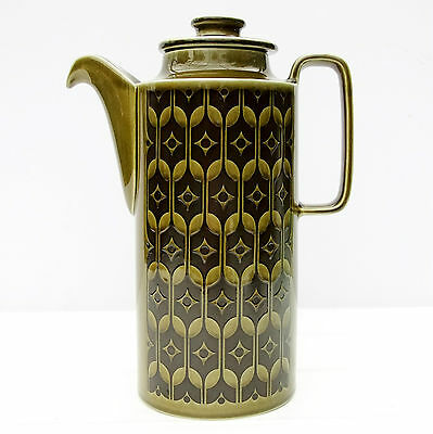 Vintage Retro 1960s Hornsea Heirloom Green Tall Coffee Pot