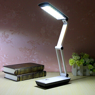 LED Foldable Lights Rechargable  Home Reading Desk Table  Lamps Touch Control