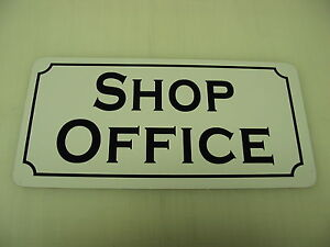 Image Is Loading SHOP OFFICE Metal Sign Vintage Style 4 New