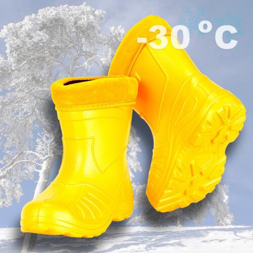 Children WINTER BOOTS Girl Boy Ultralight Insulated Rubber Wellies -30 degrees
