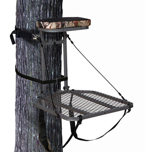 Ameristep Hang on Treestand Realtree AP seat cushion & full-body safety  harness