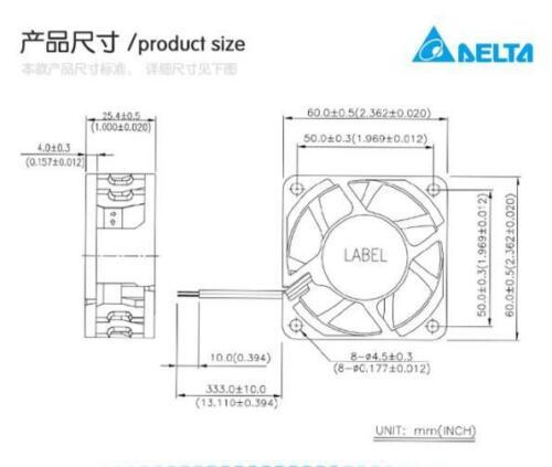 Original DELTA QFR0624GH Cooling Fan DC24V 0.21A PIN:3AUA0000088115 Inverter fan