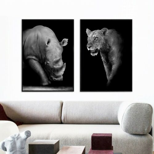 Wild Animal Canvas Wall Art Print Poster Picture Home Living Room Bedroom Decor