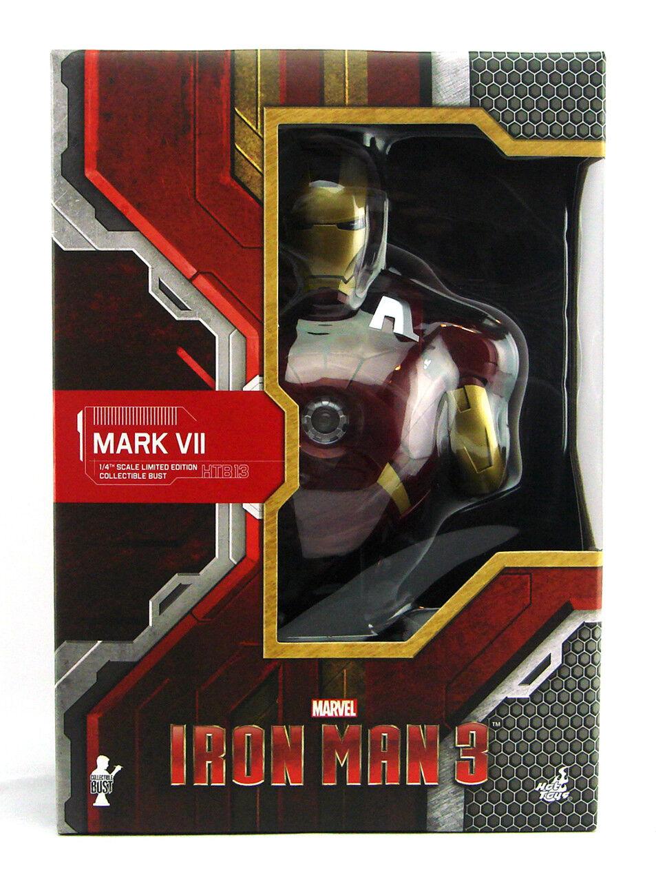 Hot Toys Iron Man Mark VII Armor 1/4 Scale Bust Iron Man 3 Marvel Avengers New