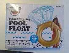 Inflatable Giant Rose Gold Flamingo Swan Unicorn Pool Float Ring Pizza