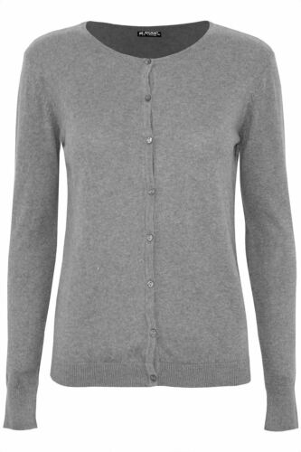 Femme Femmes Manches Longues Bouton EX h/&m Knit Tricot Col Rond Pull-Over Pull