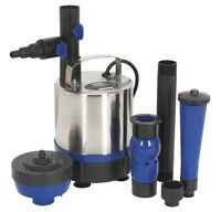 Sealey Submersible Pond Pump Stainless Steel 3000ltr/hr 230v Wpp3000s