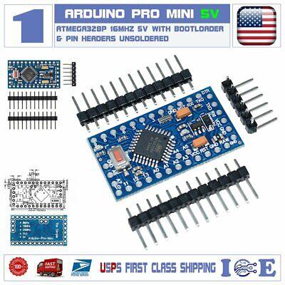 2pcs Arduino Pro Mini Compatible ATMEGA328P 16MHz 5V /& FT232RL USB Mini Cable