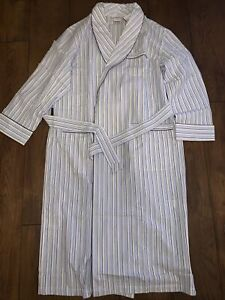 Brooks-Brothers-Blue-Grey-Striped-Dressing-Gown-BRAND-NEW-RRP-115-Lightweight