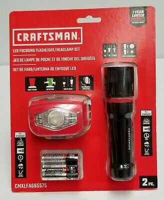 Craftsman LED Focusing Flashlight and Headlamp 1//2 off sale