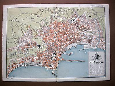 La Cartina Di Napoli.Stampa Antica Mappa Pianta Prospettica Citta Di Napoli 1898 Ebay