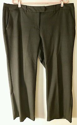 Daisy Fuentes Pant Women Size 18w Charcoal Gray Dress Flat Front 5 Pocket Clothing, Shoes & Accessories
