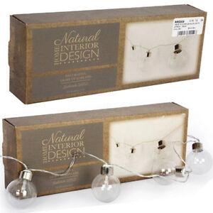 Indoor Retro String Lights : VINTAGE RETRO INDOOR OUTDOOR GLOBE STRING LIGHTS GARLAND LED LAMP DECOR HOME NEW
