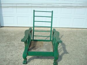 Antique-Original-Morris-Style-Claw-Foot-Chair-for-Restoration