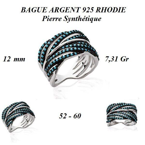 Dolly-Bijoux Alliance T52 Large Feuille de pierre SI 12mm silver Massif 925