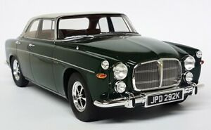 BOS-1-18-Scale-Rover-P5B-Dark-Green-White-Roof-Sealed-Resin-Model-Car