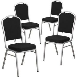Details about 4 Dining Room Chairs Kitchen Industrial Black Seat Cushion  Metal Chair Legs Set