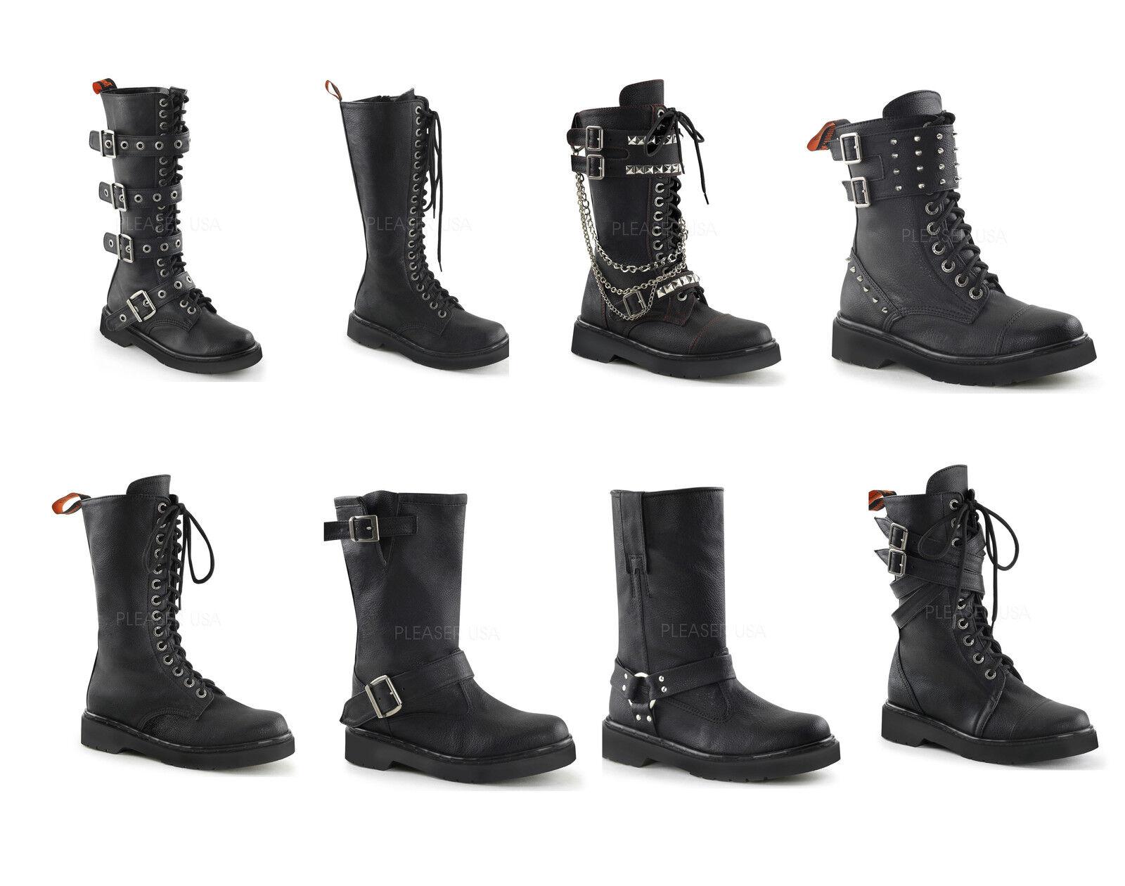Demonia Women's RIVAL-300 302 303 307 309 315 400 404 Combat Motorcycle Boots