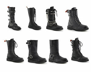 4410f7bd3e6 Details about Demonia Women's RIVAL-300 302 303 307 309 315 400 404  Combat/Motorcycle Boots