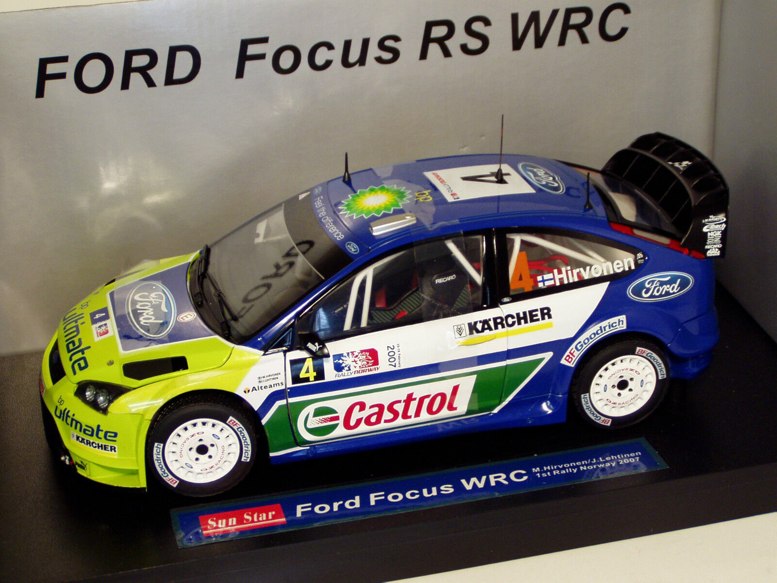 1 18 FORD Focus WRC 1st Rally Win Norvège 2007 M. Hirvonen