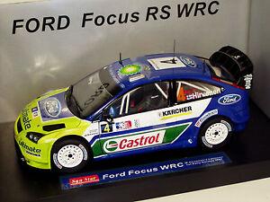 1/18 Ford Focus Wrc 1er rallye Win Norvège 2007 M.hirvonen