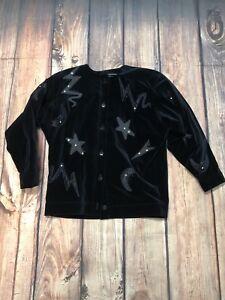 Moon 34 Ley Sz Velvet Black Velveteen Stjerner Designs Margaretha Jakke Escada 0Oq7xznY