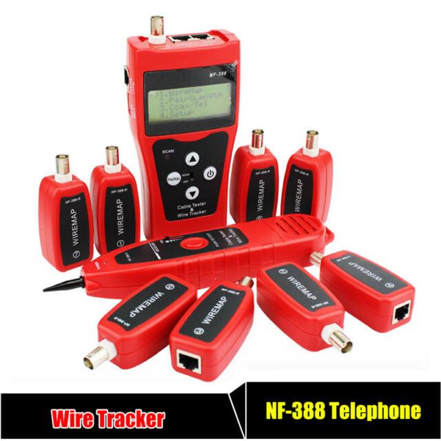 NOYAFA NF-388 2 Tone Network Cable Wire Tester Tracker + 8 Remote Identifiers