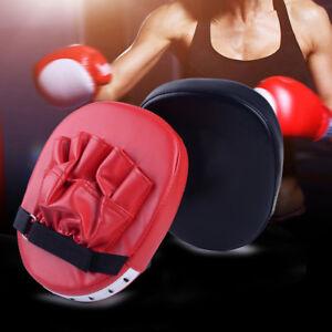 MMA-Ziel-Fokus-Punch-Pad-Boxhandschuhe-Trainingshandschuh-Karate-Thai-Kick-Muay