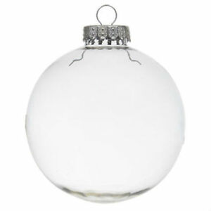 DIY Clear Plastic Fillable Paintable Christmas Ball Ornaments 4