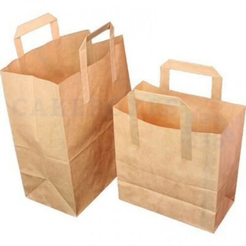 250 X PAPER CARRIER BAG 254 X 140 X 305 mm CHEAPEST ON EBAY CHOOSE YOUR COLOUR