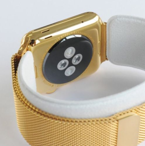 24k Gold Plated 42mm Apple Watch Series 3 With Gold Milanese Loop Band Gps Lte For Sale Online Ebay