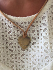 And Nothing Else Matters Antique Distressed Brass Guitar Pick Handmade Necklace