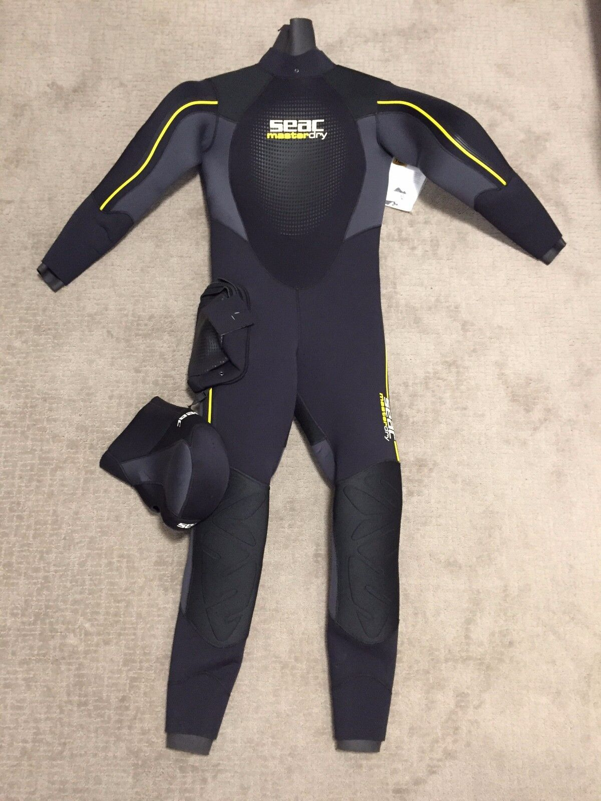 Seac Masterdry Semi-dry Wetsuit Man 7 mm sz M