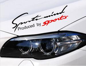 Sports Mind Car Headlight Taillight Eyebrow Racing Vinyl