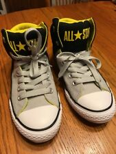 730c598dea7d Converse K All Star High Street 656071F Black Ash Grey Kids US size 1 High  top