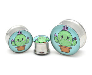 Pair of Double Flare The Lovers Picture Plugs gauges Choose Size