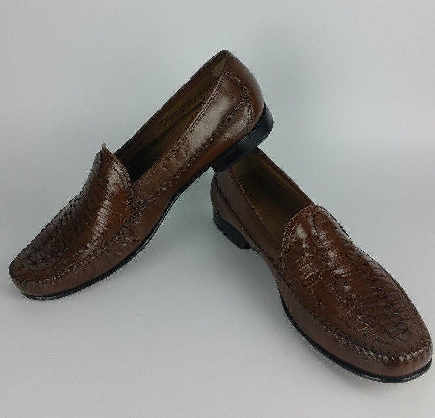 Florsheim Jareth Woven Loafer Slip-On Men 15 EEE Wide Brown Leather shoes 12035